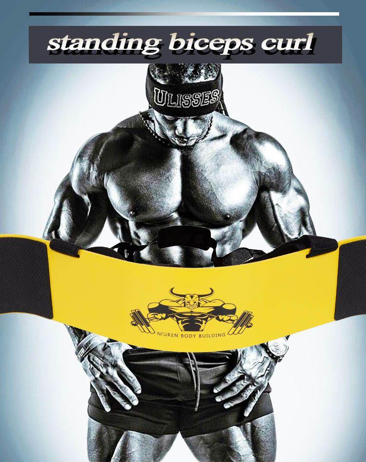 1 pc Haltérophilie Bras Blaster Bretelles Réglables En Alliage D'aluminium Conseil Bomber Biceps Curl Muscle Triceps Formation Gym Équipement