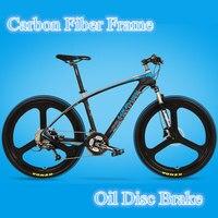 27 Velocidades, 26 polegadas, Quadro de Fibra De carbono, óleo de Freio a Disco, Jante de Liga de magnésio, Mountain Bike, Super Qualidade.