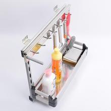 Organizer Organizador Armario De Despensa Stainless Steel Rack Cocina Cuisine Kitchen Cabinet Cestas Para Organizar Basket