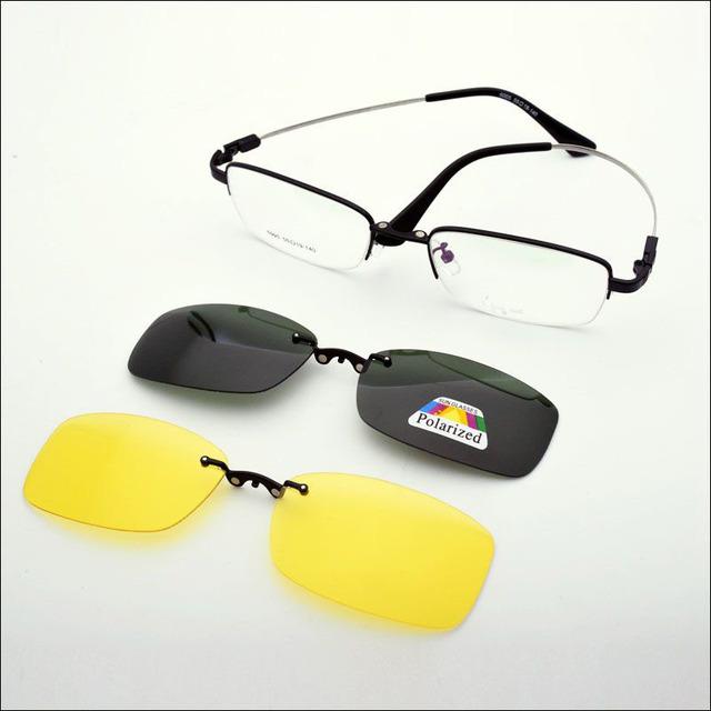 Marcos de los Vidrios De La Miopía Establece Espejo gafas de Sol Polarizadas Nvgs Imán Caja Magnética Multifuncional Marco de Las Lentes