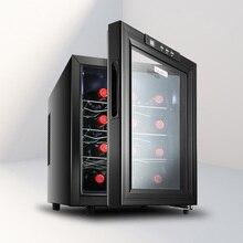 Электронный контроль, винный шкаф, постоянная температура, влажность, маленький бытовой холодильник для вина, морозильник для льда, шкаф для сигар