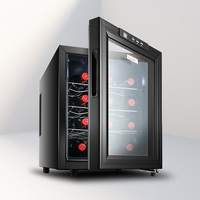 Electronic Control Wine Cabinet Constant Temperature Humidity Small Household Wine Refrigerator Ice Bar Freezer Cigar Cabinet