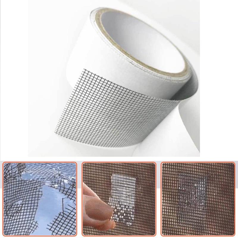 6PCS//12PCS Mesh Window and Door Repair Patches Mosquito Screen Repair Net Tape