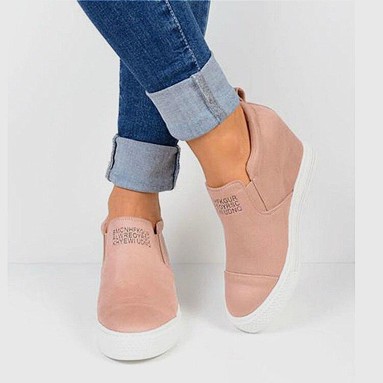 Fashion Plus Size Women Wedges Platform Sneakers Autumn Winter Female Suede