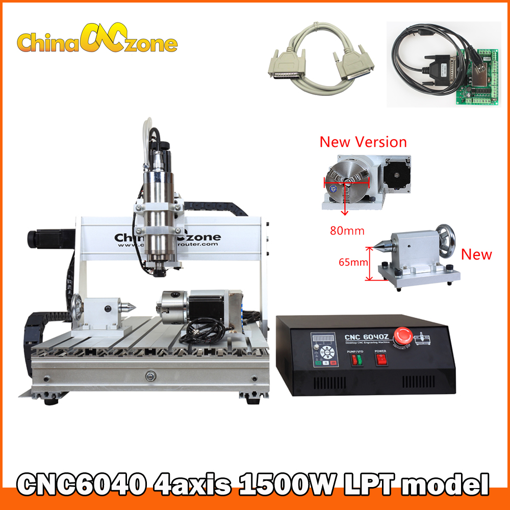 USB Mach3 cnc router 6040 4axis 1500W Engraving Milling Cutting Machine CNC Router Woodworking Milling Engraver CNC Factory 5 axis cnc router 6040 cnc router 1500w spindle ball screw cnc 6040 engraver engraving machine