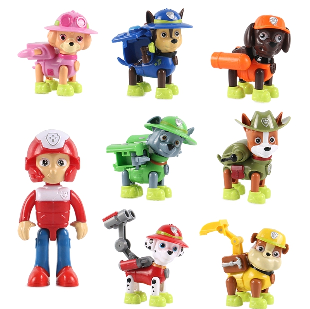 Action Figures For Dog Canine Anime Doll Patrulla Canina Juguetes Pawed Figure Patrolling Puppy Toy 12cm lps pet shop toys rare black little cat blue eyes animal models patrulla canina action figures kids toys gift cat free shipping