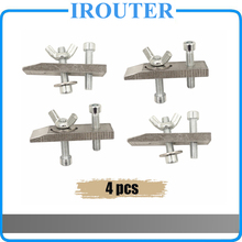 4pcs clamps for CNC engraving machine CNC 2418 3018 Worktable fastening plates fixture