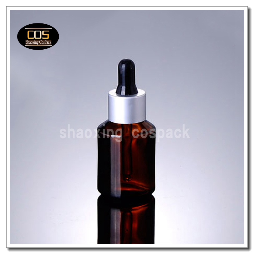 100pcs empty 1 ounce brown glass packaging dropper for essential oil, 30ml empty amber glass bottle with dropper top online