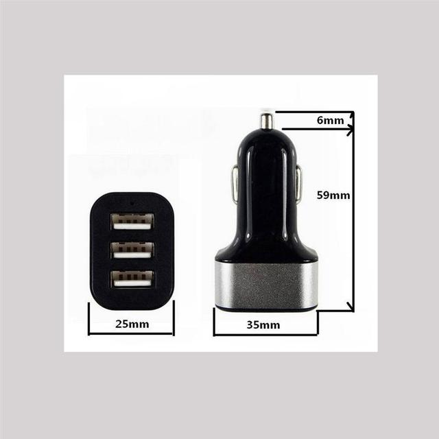 VORCOOL DC 12-24V 3 USB Ports Car Charger Adapter Socket 1A 2.1A Power Charging Socket Universal Automobile Cargador For Phone