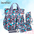New Latest Large-capacity Mother's Tote Bag Messenger Bag Easy Carry Bag For Mom Waterproof Colorful Point Dot Girls Baby Bag
