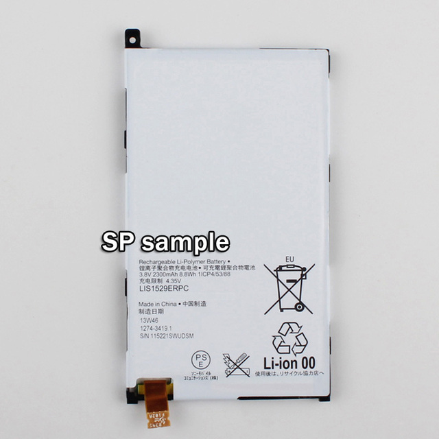 Replace Battery LIS1529ERPC For Sony Xperia Z1 mini D5503 Xperia Z1 Compact M51w Phone Battery 2300mAh