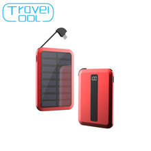 Travelcool Alloy Design Portable Solar Power Bank 5000mAh Digital Display Battery Pack Mini Powerbank Usb Typec