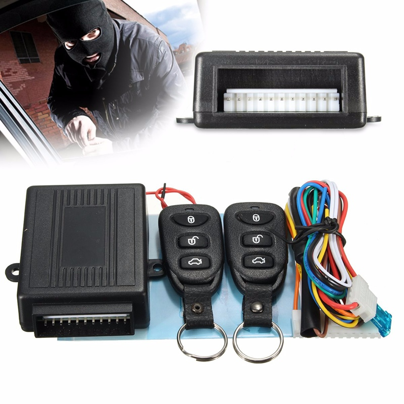 Universal Alarm Systems Car Auto Remote Central Kit Door Lock Locking Vehicle Keyless Entry System With Remote Controllers