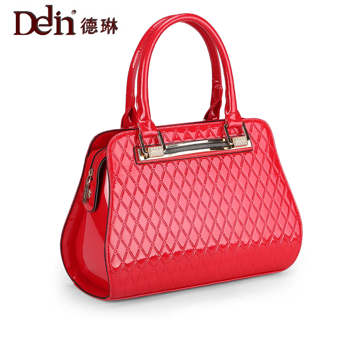DELIN  2017 new crocodile grain female bag in Europe and the portable lady handbags fashion female the little old lady in saint tropez
