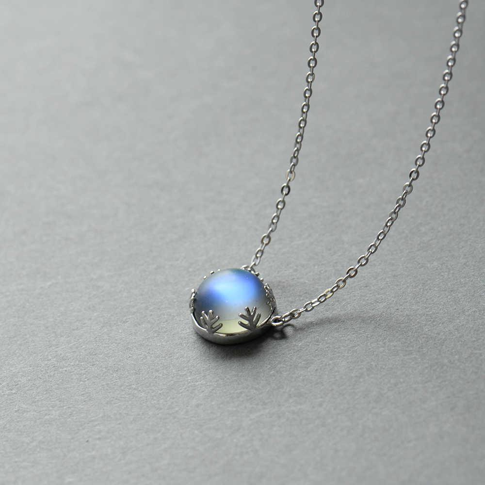 Thaya 55 см Аврора кулон ожерелье Halo кристалл драгоценный камень s925 серебряная шкала легкое ожерелье для женщин Элегантный ювелирный подарок