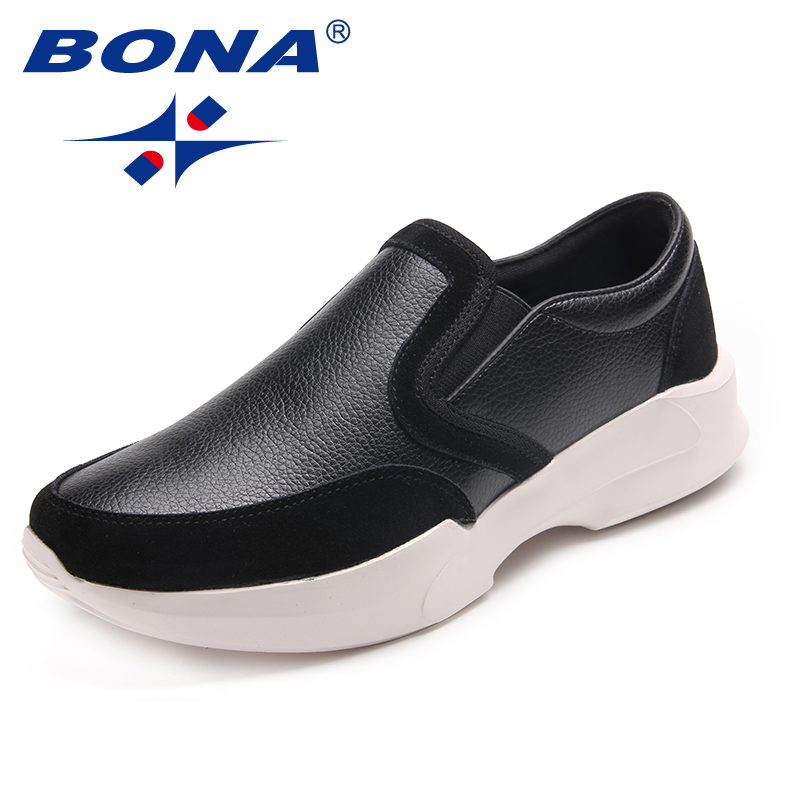 BONA New Arrival Classics Men Walking Shoes Slip-On Men Loafers Suede Men Flats Comfortable Male Sneakers Fast Free Shipping lg 47lb673v