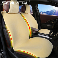 Car Seat Cover Set Universal Plush Seats Cushion Winter Interior Accessories Soft Warm Leather Anti Skip
