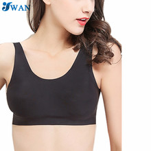 Sexy Bra Wrapped Chest Underwear Women No Trace Bra Top Solid Ice silk Underwear Seamless Padded Tanks Bandeau Tube Tops
