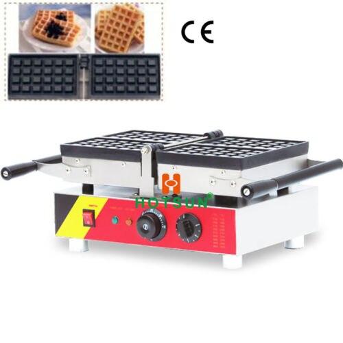 цены  Commercial Nonstick 110V 220V Electric Belgian Brussels Liege Waffle Maker Iron