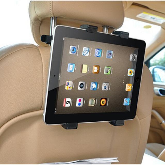"Assento de carro de Volta Titular Tablet Fique Stents Encosto de Cabeça de Montagem Para 7-11 ""ipad 5 6 mini 3 4 para samsung tab 2 3 4 kindle tablet asus gps"