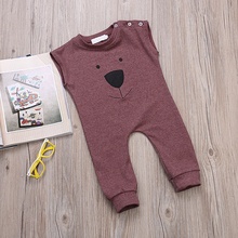 Baby Rompers Summer Style Powered Baby Boy Girl Clothing Newborn Infant Bear Sleeveless Clothes Bebe De Roupa