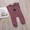 Bebé de Los Mamelucos Del Verano Estilo Powered Muchacha Del Bebé Ropa de Recién Nacido Sin Mangas Oso Ropa de Bebe De Roupa