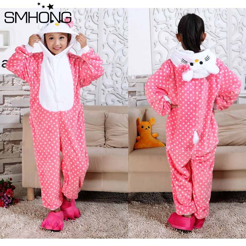SMHONG children animal cat fox panda owl giraffe pokeman kigurumi stitch  pig tiger spiderman dinosaur baby kids pajamas 3-12 Y. В избранное. gallery  image 8e8f762dd
