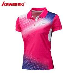 Kawasaki brand women polyester polo shirt short sleeve badminton table tennis running sports t shirt st.jpg 250x250