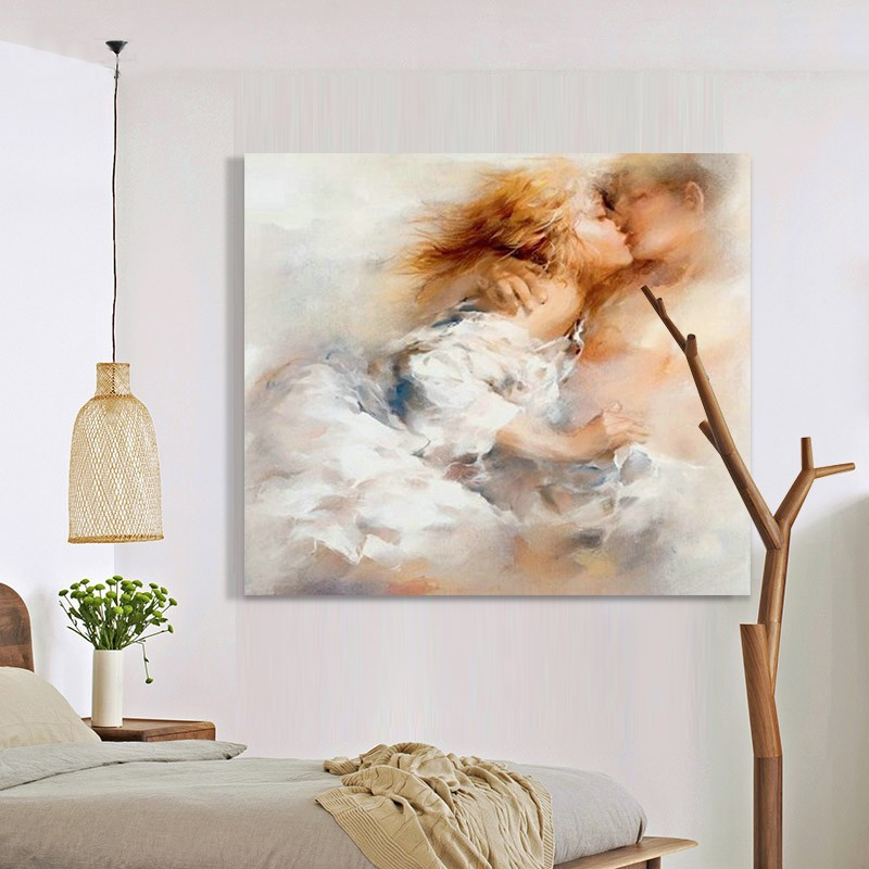Handpainted Traditional Girls Abstract Art Home Decor High Quality New Home Decoration Art Oil Paintings on Canvas Hang Pictures