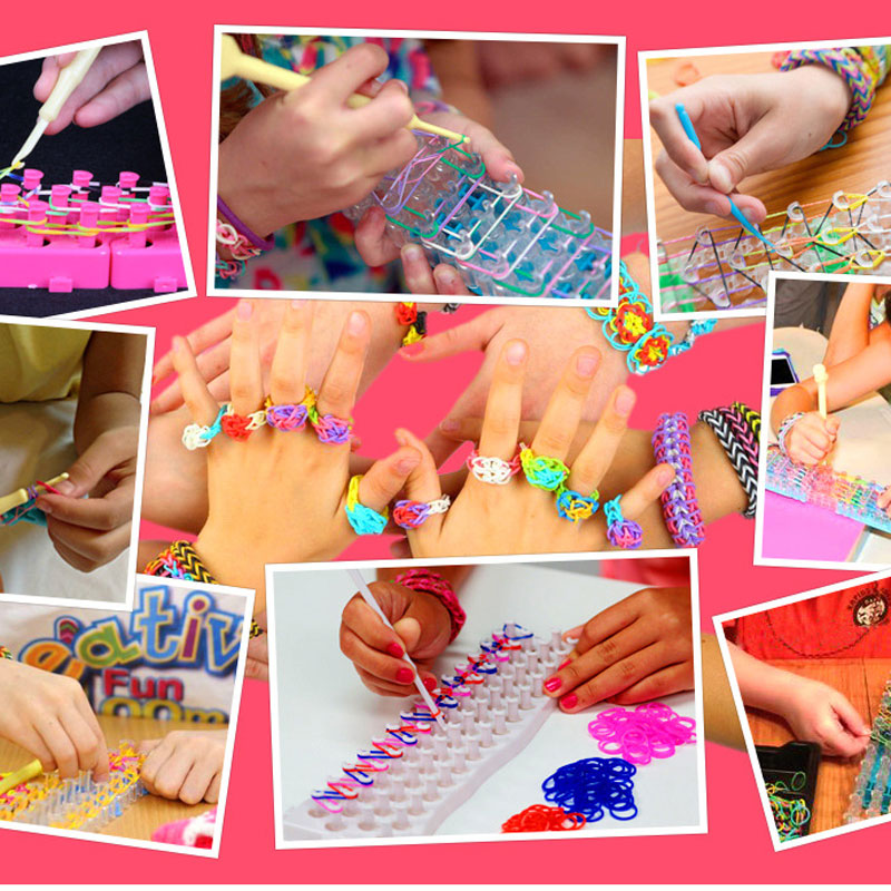 28 Grid DIY Rainbow Knitting Machine Rubber Band Bracelet Weaving Bracelet Braided Rubber Band Send With Accessories Tool