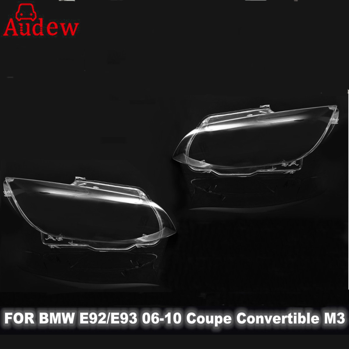 1Pcs Car Headlight Headlamp Lens Cover Left/Right for BMW E92 E93 Coupe Convertible M3 06-10 bmw m3 e30 coupe