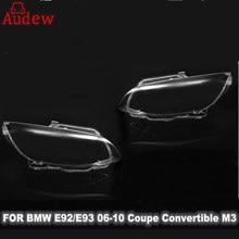 1Pcs Car Headlight Headlamp Lens Cover Left/Right for BMW E92 E93 Coupe Convertible M3 06-10