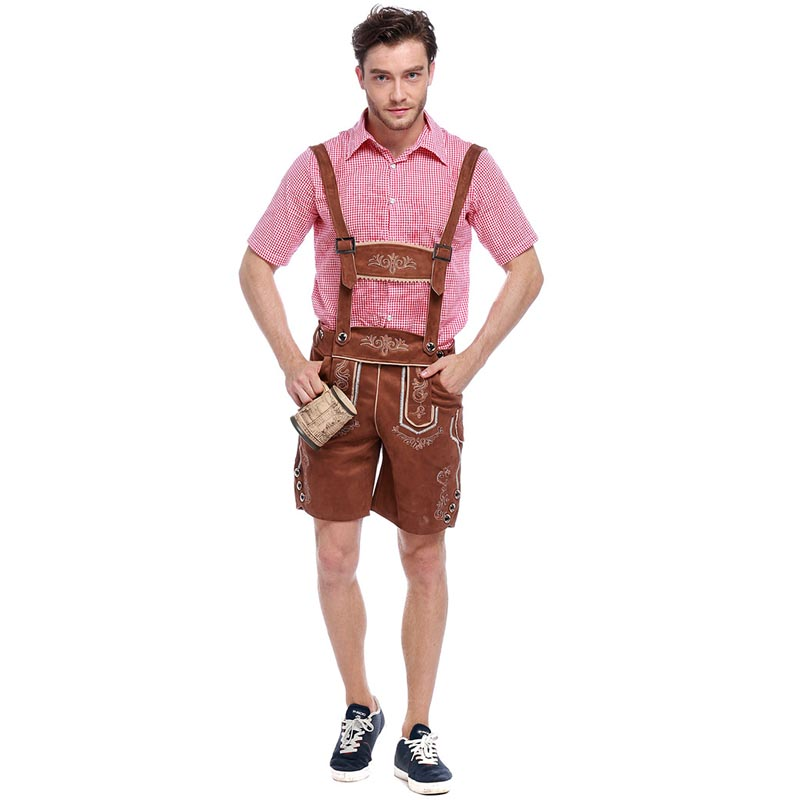 TITIVATE Plus Size New Bavarian Octoberfest German Festival Beer Men Cosplay Halloween Costumes for Men Adult M L XL 2X
