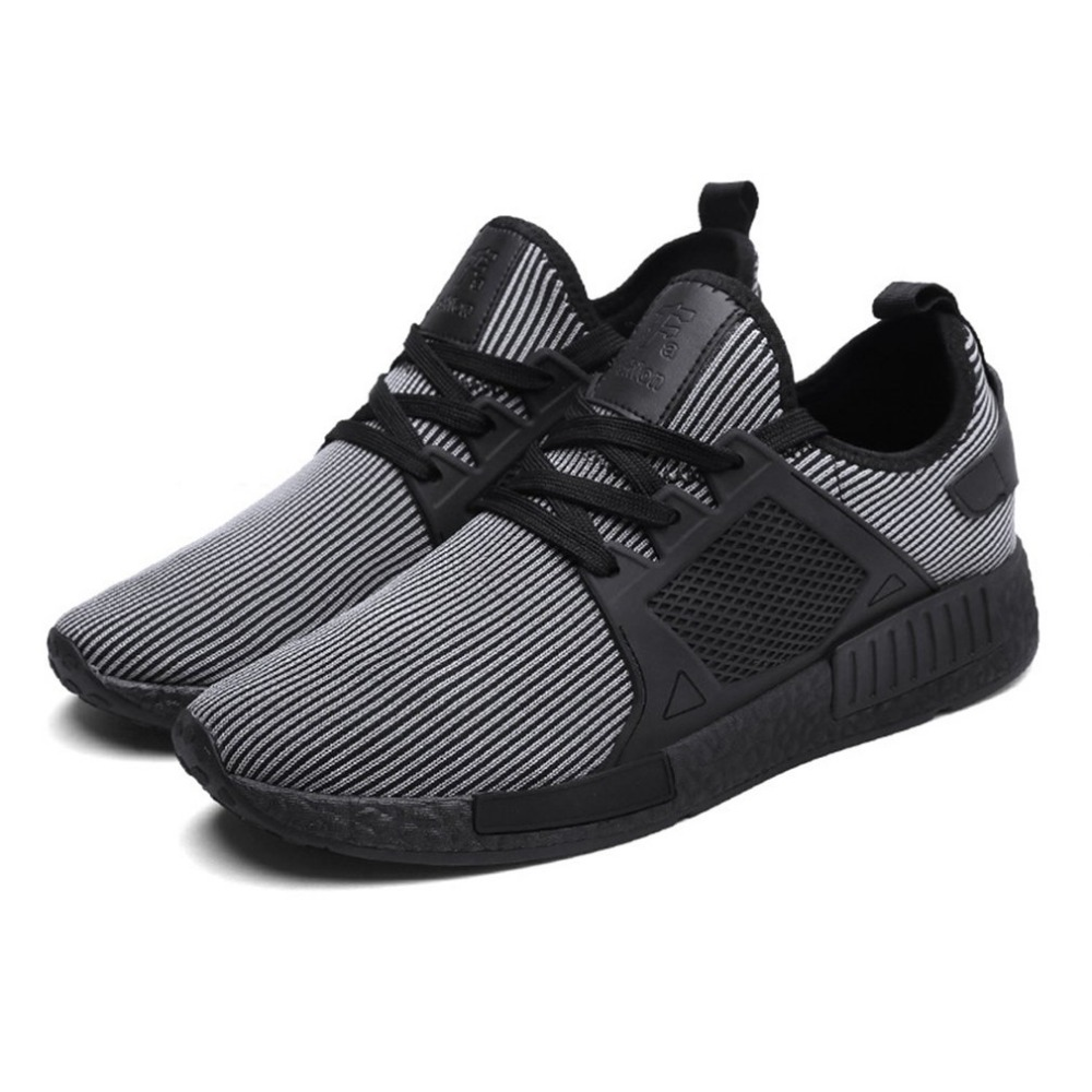 Trend Men Shoes Flykitting Fabric Running Shoes Breathable Mesh Upper Sports Shoes Antiskid Spring Autumn Winter Drop Shipping