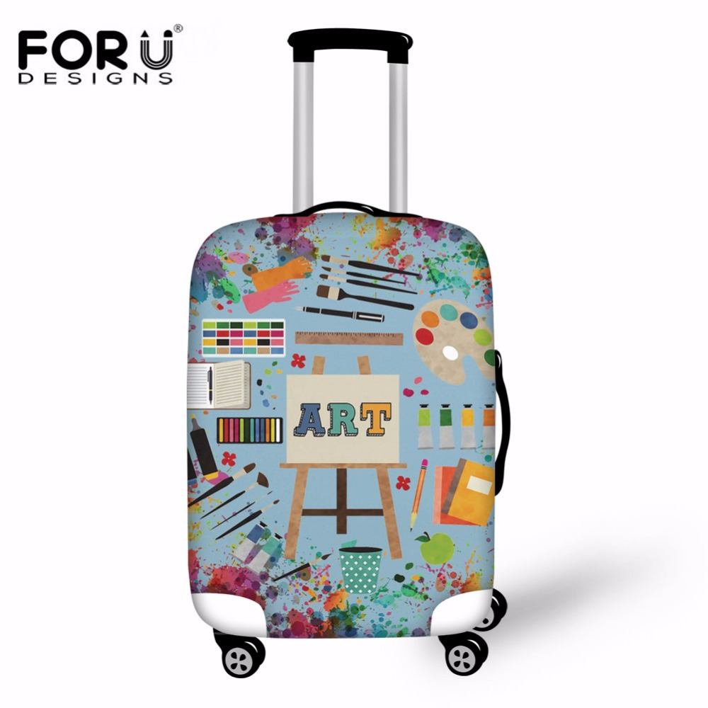 FORUDESIGNS Art Teacher Print Travel Luggage Cover Protective Suitcase  cover Trolley case Travel Luggage Dust Cover for 18 to 30 4aacffd23560c