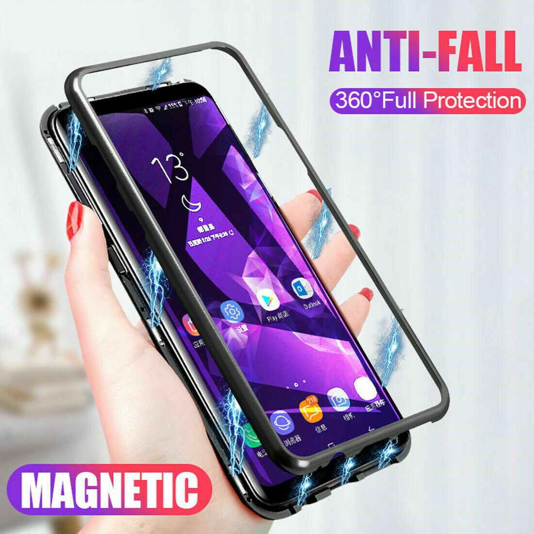 360 <font><b>Magnetic</b></font> Adsorption <font><b>Case</b></font> for Huawei P30 P20 Lite P10 Plus Nova 2S 2i 3 3i 3e 4 4e Y6 Prime 2018 Y9 2019 Mate 10 20 20X <font><b>Cases</b></font> image