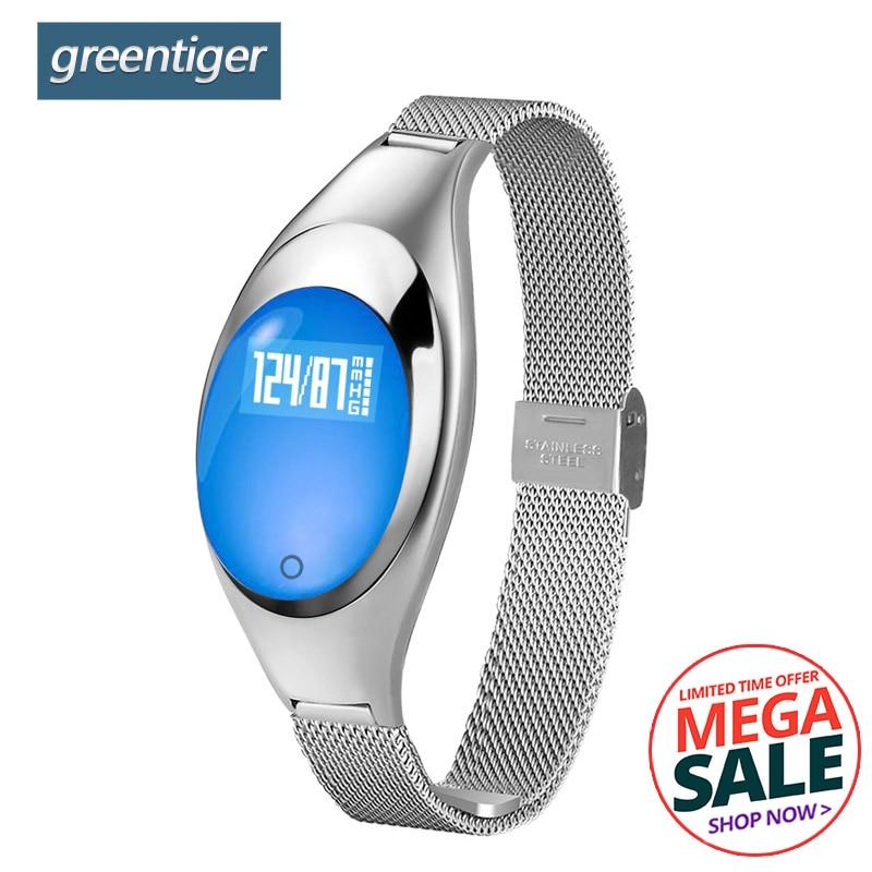 Greentiger Femmes Z18 Montre Smart Watch Mode Fille Ami Cadeau Moniteur de Fréquence Cardiaque Bande À Puce La Pression Artérielle Podomètre Smartwatch