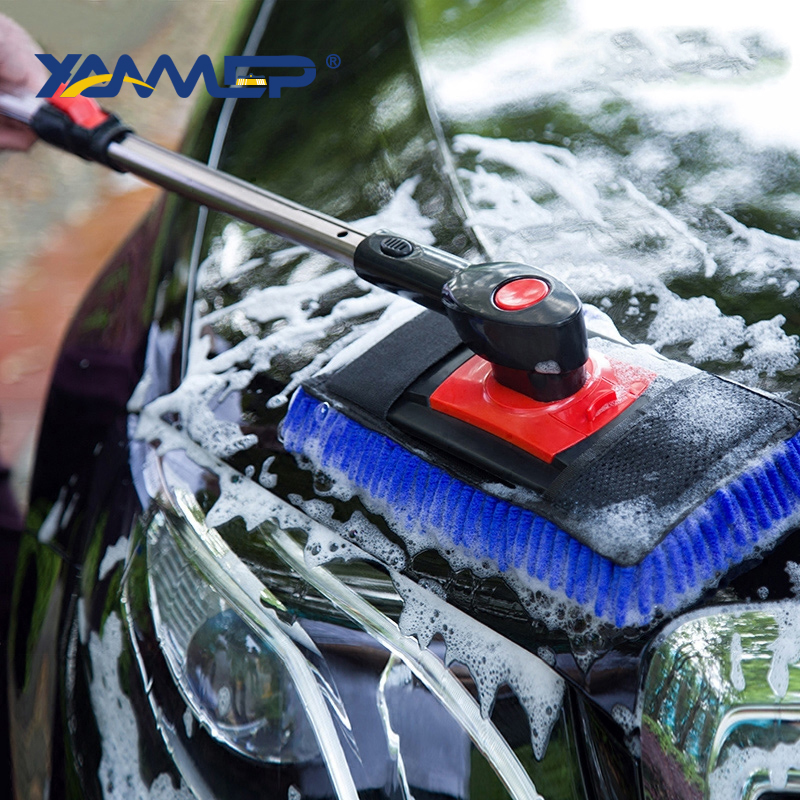 Car Wash Brush Cleaning Mop Chenille Broom Telescoping Long Handle Rotatable Brush Car Cleaning Tools Car Accessories Xammep
