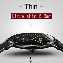 OLEV Ultrafino Negocios Reloj Para Hombre Correa de Cuero Relojes relogio masculino Reloj Hombre Reloj de Cuarzo Ocasional Masculina G5871P