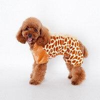 4 pés camisola casaco quente cão camisa Parkas de pelúcia de algodão acolchoado roupas para o inverno casaco quente Schnauzer Pet Spots para baixo roupas