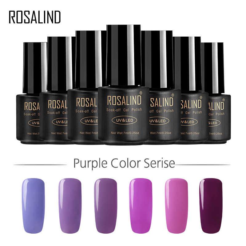 Rosalind 7 Ml Nail Gel Polish Nobele Paarse Kleur Serie Soak-Off Uv Led Lamp Gel Vernis Semi Permanente nail Lak