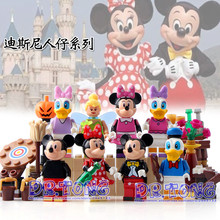 DR.TONG 80PCS/LOT Super Heroes Marvel Cartoon Mickey Minnie Donald Duck Daisy Tinker Bell Bricks Building Blocks Kids Toys 37005