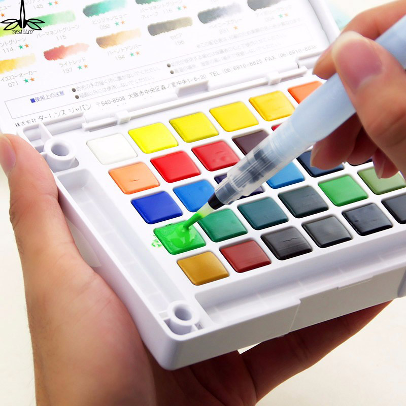 Refillable Water Brush Ink Pen for Water Color Calligraphy Painting Illustration Pen Office Stationery