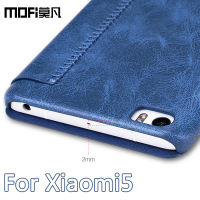 Xiaomi Mi5 Case 5 15 Inch Mofi Original Smooth Cover PU Leather Kickstand For Xiaomi Mi
