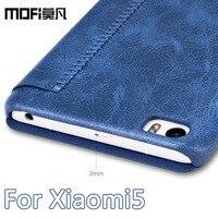 Xiaomi Mi5 Case 5 15 Inch Mofi Original Smooth Cover PU Leather Kickstand For Xiaomi Mi
