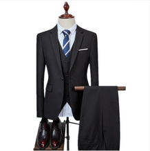 (Jackets+Vest+Pants) Traje De Novio Men Slim Suit Groom Wedding Suits For Tuxedo One Button Mens Blazer Custom