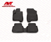 Floor mats for Citroen C3 Picasso 2009 4 pcs rubber rugs non slip rubber interior car styling accessories