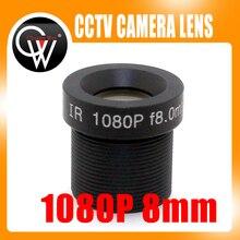 8mm lens 1080P HD MTV Fixed 38.5 Degrees 1/2.5″ M12 F2.0 Lens For CCTV Security AHD / HDCVI / IP Camera