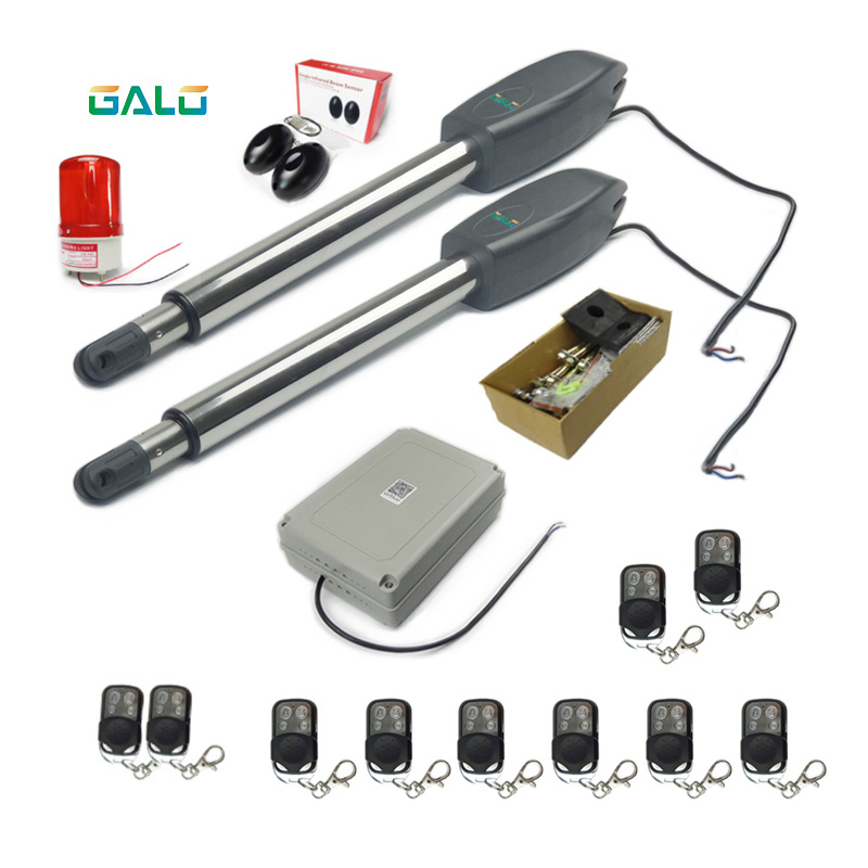 GALO heavy worm wheel automatic door opener with WiFi control and solar system Door automatic door opener With 2 remote controls