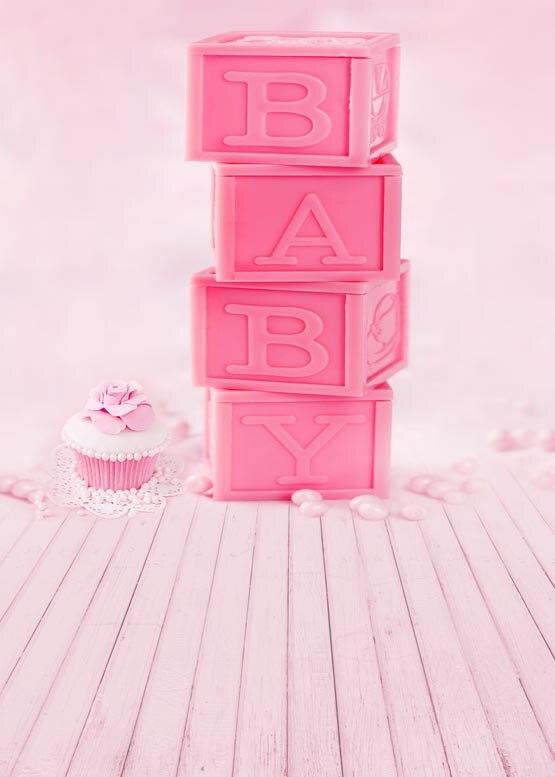 Personnaliser lavable sans rides mignon rose gâteau photographie décors pour bébé anniversaire photo studio portrait arrière-plans S-953